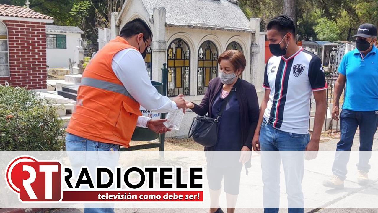 Protección Civil Morelia refuerza medidas sanitarias en panteones