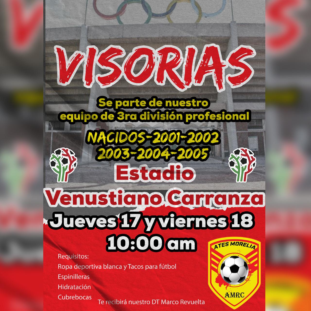 El histórico y Olímpico Estadio Venustiano Carranza recibe a los Ates Morelia AMRC