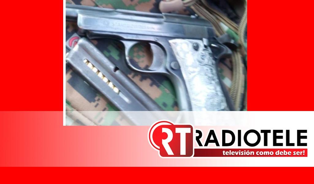 Asegura SSP a una persona en posesión de un arma de fuego y cartuchos útiles, en Tzitzio
