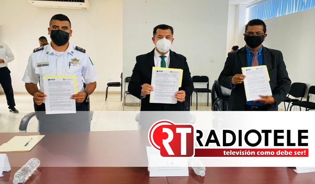 Comision Municipal de Seguridad Ciudadana firmó convenio con SEPROBAN