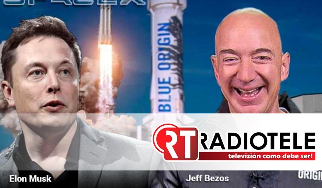 Carrera espacial entre Musk y Bezos por contrato de aterrizaje en la luna