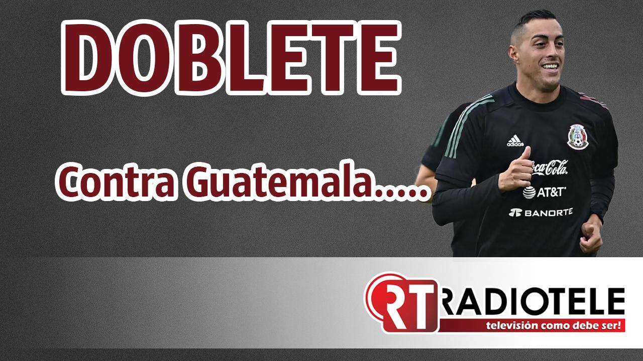 FUNES MORI anota dos goles con la selección mexicana….. a GUATEMALA