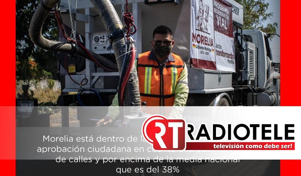 Gobierno de Morelia, dentro de los 25 municipios mejor evaluados por pavimentación de vialidades