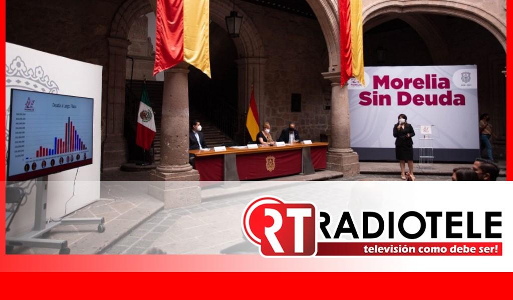 Gobierno de Morelia saldó deuda pública por primera vez en 29 años