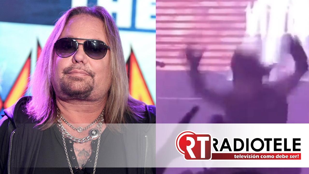 Vince Neil, vocalista de Mötley Crüe, cae de escenario y se rompe costillas