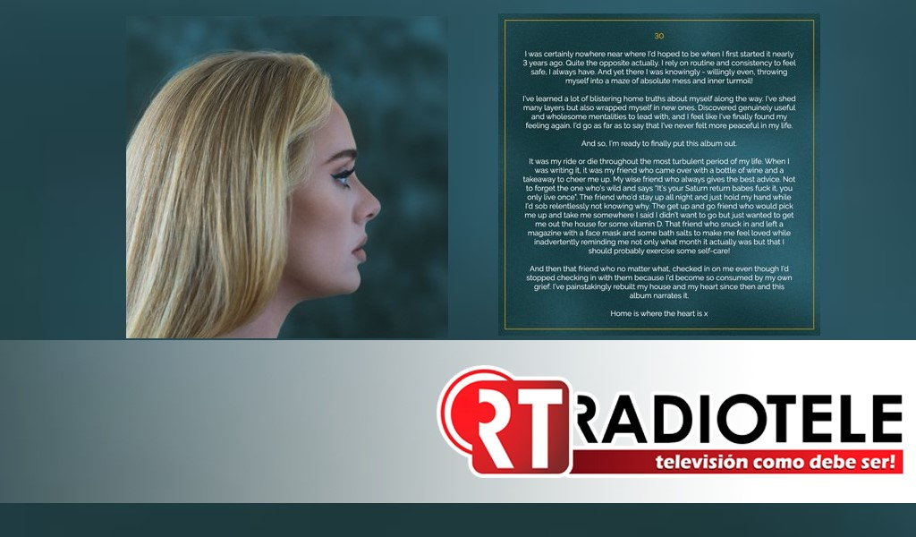 Nuevo disco de Adele después de varios años sin lanzar material nuevo