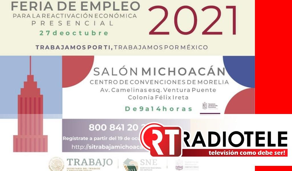 Todo listo para la Feria Nacional de Empleo para la Reactivación Económica